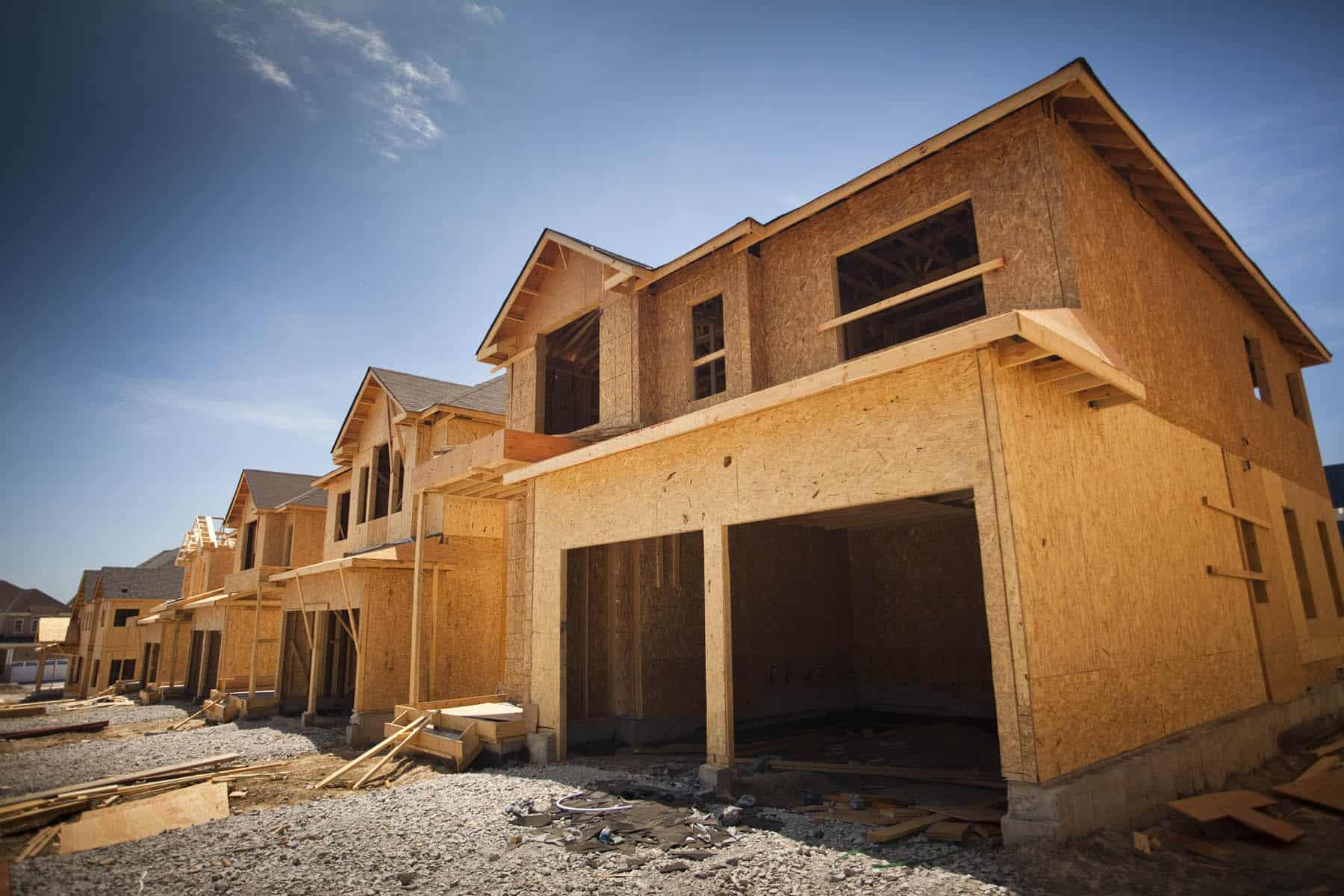 House being built in castle oaks